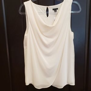 Ann Taylor nwot draped neck cream blouse